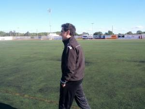 Dani Mori, técnico de la Penya Ciutadella.