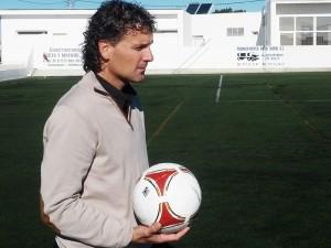 Luis Elcacho, en el campo de Sant Francesc