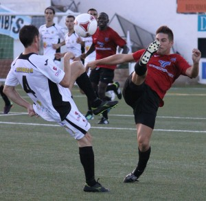Imagen del Formentera-Peña Deportiva de la primera vuelta. Foto: Fútbol Pitiuso