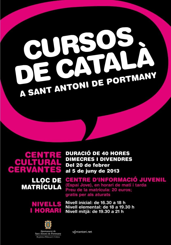 El 20 de febrero arrancan los cursos de catal n de sant for Curso de melamina gratis