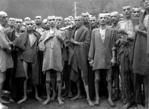 Presoners alliberats d'Ebensee, un dels camps satèl·lits Mauthausen. Fotos: Wikipedia.