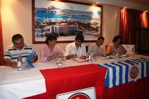 El acuerdo entre los cuatro clubes se firmó el miércoles por la tarde en el hotel Argo de Talamanca. Fotos: C. V.