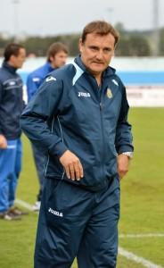 Mario Ormaechea, en el campo de la Arandina