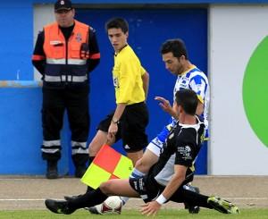 En la imagen, un lance del encuentro disputado en el estadio municipal El Montecillo. Foto: Javier Garcia, JARCHA