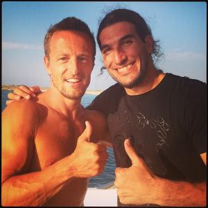 Bronceadísimos y sonrientes, así han posado los dos deportistas. Foto: Instagram