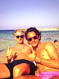 Abate e Inzaghi, en Formentera. Foto: Twitter