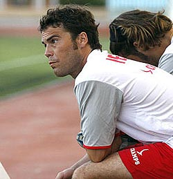 Joan Francesc Ferrer, Rubi, cuando era entrenador de la SD Eivissa en la temporada 2008-09.