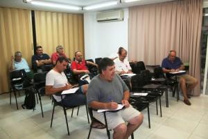 Varios de los responsables de los clubes de Regional durante el acto en la junta insular.