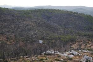 Imatge de la serra de Morna calcinada. Foto: D.V.