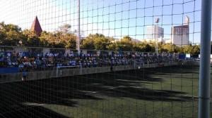 El Municipa de Porta se ha llenado para ver el partido de Copa entre el Sant Andreu y la Peña.