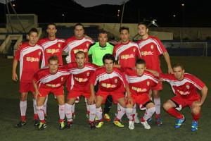 Once inicial del Eivissa CF que jugó en pretemporada un amistoso ante el Portmany.