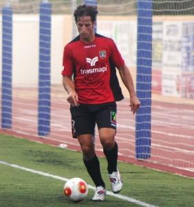 Piquero, delantero del Formentera, en un partido de Liga.