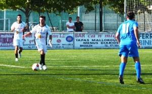 Los jugadores de la Peña han hecho un partido muy serio en Binissalem. Foto: Fútbol Balear