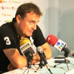 Mario Ormaechea habla con los medios tras un partido de Liga