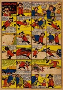 Primera historieta publicada bajo el titulo de Carpanta con la evidente evolución gráfica del protagonista.