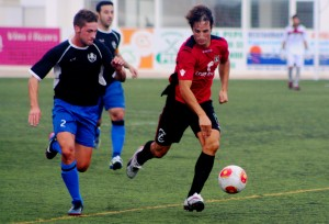 Diego Piquero, en un partido de Liga en Sant Francesc