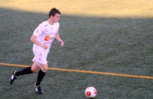 Borja García ha debutado en casa como nuevo jugador de la Peña