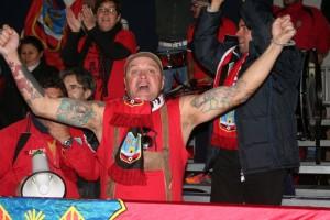 Los aficionados del Formentera se hicieron oír durante todo el partido.