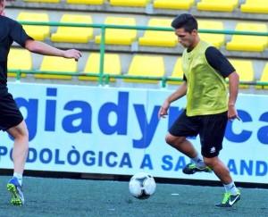 El jugador ibicenco Aitor Ramírez causó baja la pasada semana en la UE Sant Andreu.