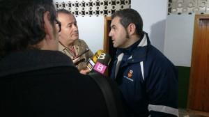 Miguel Ángel Espadas realiza declaraciones a la prensa tras el partido ante la Peña.