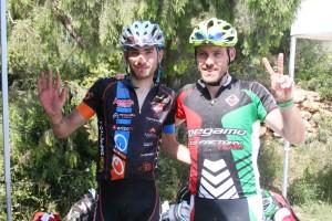 Víctor Manuel Fernández y Jesús del Nero, los ganadores de la segunda etapa.
