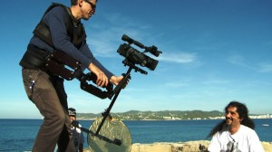 Un moment del rodatge del documental 'La revolució turística'.