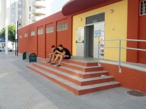 Imagen del pabellón de es Pratet a las siete de la tarde.
