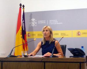Teresa Palmer, durante una ruda del prensa. Foto: Delegación del Gobierno.