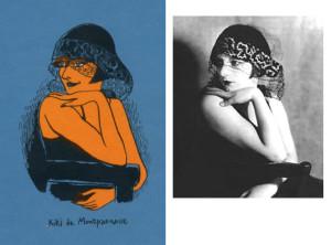 Detalle de la contraportada comparado con el original fotográfico de Man Ray.