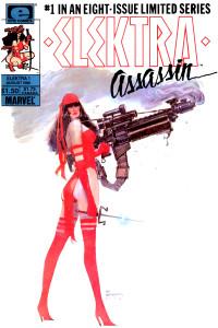 Elektra Assassin. Portada original norteamericana del primer numº de la serie limitada de 8 entregas.