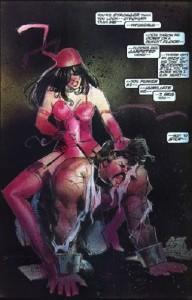 Elektra cabalgando a lomos de Garret mientras este le suplica que no pare...ni nosotros tampoco.