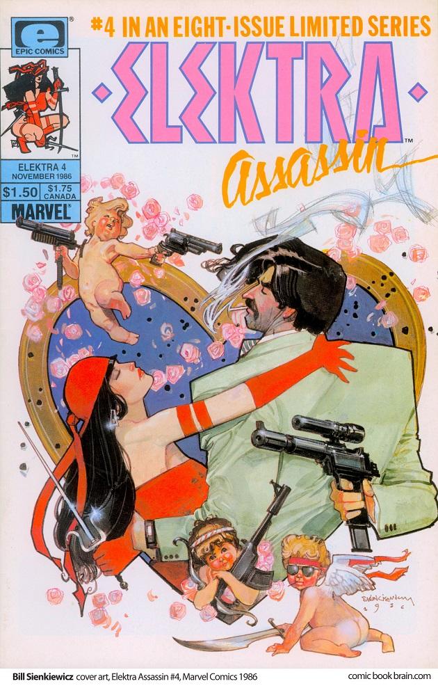 Magnífica cubierta de Sienkiewicz para el numº 4 de la serie limitada con los protagonistas marcándose muy de cerca.