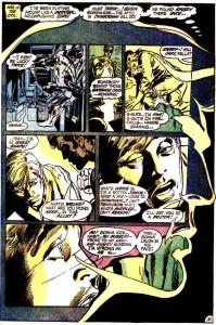 Un Speedy cargado de razones y pupilas dilatadas protagoniza esta magnífica página de Neal Adams.