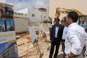 Imagen del inicio de la construcción de 14 Viviendas de Protección Oficial en Sant Ferran.