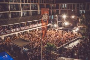 El escenario del Ibiza Rocks Hotel.