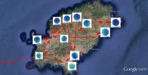Una mapa de los focos con mayor contaminación y su influencia en zonas cercanas. Foto: AAE