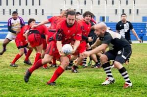 Un partido del Ibiza Club de Rugby disputado en Can Misses. Foto: Maxi Morganti