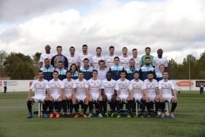 La plantilla de la Peña Deportiva de Tercera División, que ocupa el tercer puesto en la tabla.