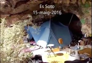 Imagen de la acampada en es Soto.