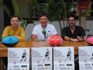 Presentación del Ibiza Beach Rugby Festival, que se celebrará en Sant Antoni.