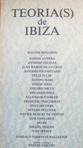 La portada de 'Teorías de Ibiza', una de las obras más aclamadas de las editadas por Julbe en la isla.