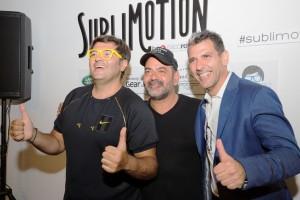Wally López, José Corbacho y Paco Roncero, durante la presentación de Sublimotion.