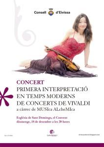 Cartell del concert del proper diumenge.
