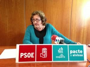 La diputada Esperança Marí durant una roda de premsa. Foto: PSOE-Pacte.
