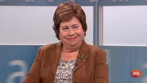 María Luísa Cava de Llano, en una entrevista en TVE. Foto: TVE