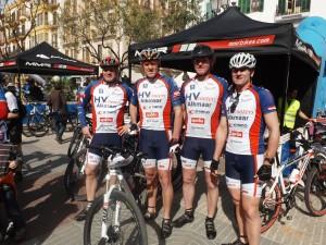 El equipo holandés del HV Scooters, formado por cuatro corredores.