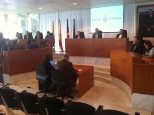 Imagen del pleno celebrado hoy en el Consell Insular de Eivissa