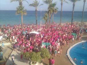 Imagen de un viaje organizado de Erasmus a Eivissa el año pasado. Foto: Facebook ESN Ibiza Trip.