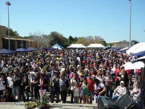 Gran asistencia a la fiesta intercultural. Fotos: G.R.