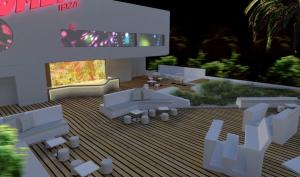 Recreación del interior de Bomba Ibiza, cuyos directivos anuncian su apertura para finales de junio, sin concretar más la fecha.  Foto: ibiza-style.com